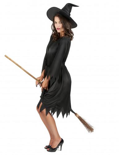 Svart häxa - Utklädnad för vuxen till Halloween-1