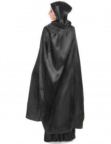 Svart vampyrcape Halloween vuxna-2