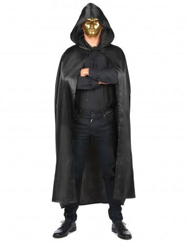 Svart vampyrcape Halloween vuxna-3