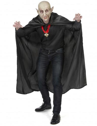 Svart vampyrcape Halloween vuxna-4