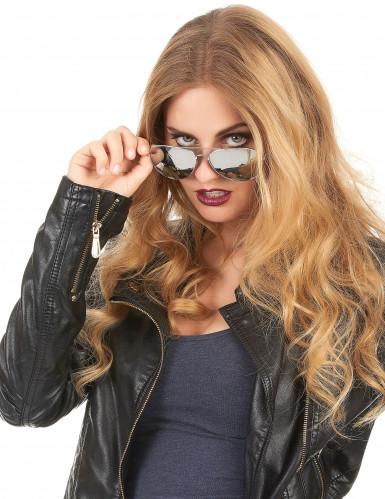 Svarta pilotglasögon med silverfärgade bågar-1