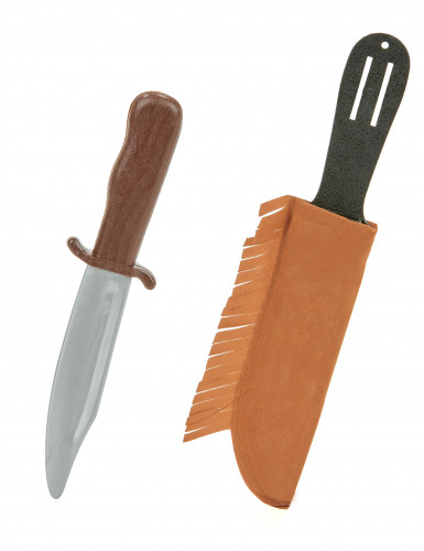 Indiankniv i plast med etui