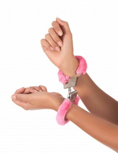 Handfängsel i rosa päls-1