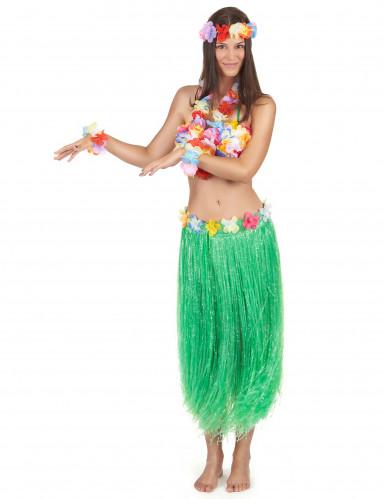 Grönt Hawaii-set för vuxna