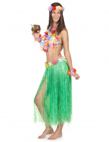 Grönt Hawaii-set för vuxna-1