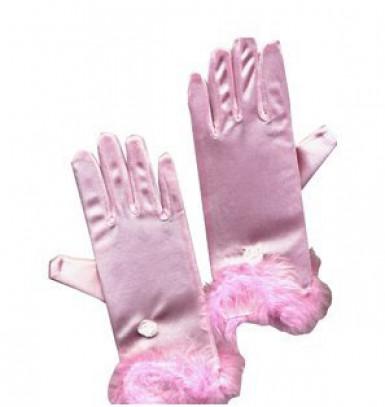 Rosa flickhandskar