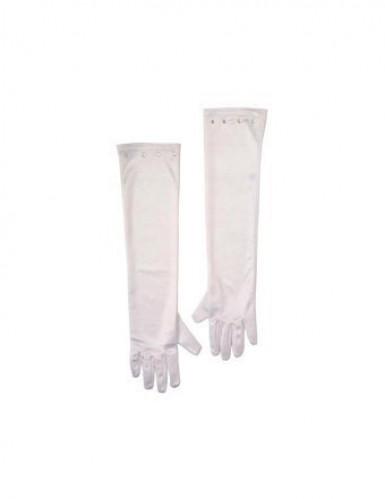 Vita långa handskar för barn