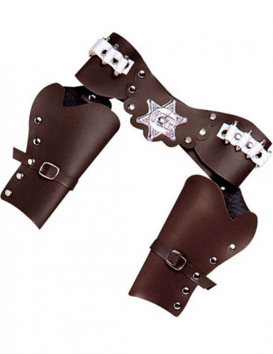 Brun Cowboy Pistolhölster i Plast