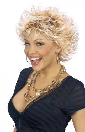 Stilig blond peruk för vuxna