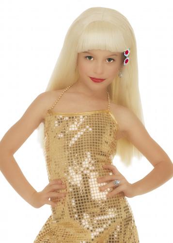 Glamorös blond peruk för barn