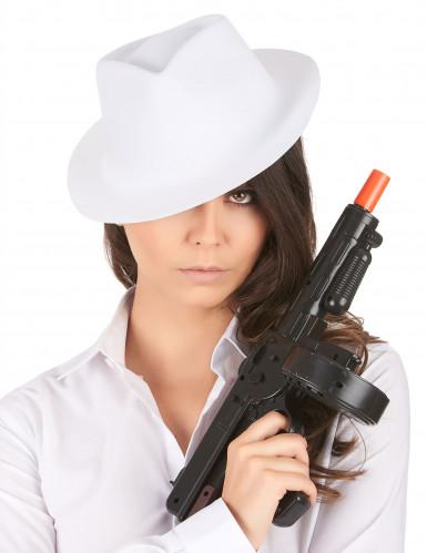 Vit Gangsterhatt Vuxen-1