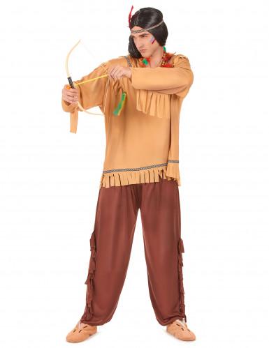 Hurrande Hermelinen - Indiandräkt i vuxenstorlek till temafesten-1
