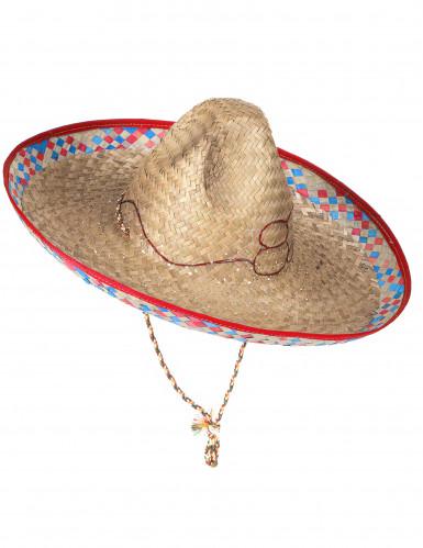 Mexikansk Sombrero i Halm Vuxen-2