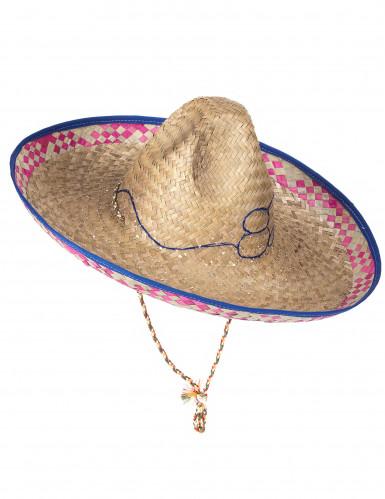Mexikansk Sombrero i Halm Vuxen-4
