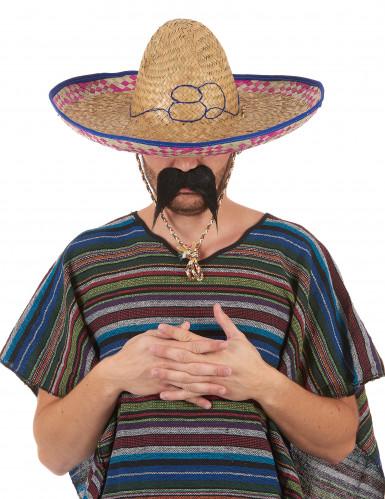 Mexikansk Sombrero i Halm Vuxen-5