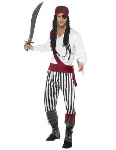 Enögda Villy - Randig piratdräkt för vuxna