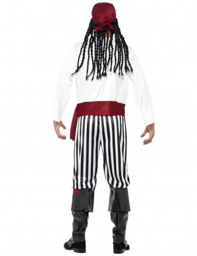 Enögda Villy - Randig piratdräkt för vuxna-2