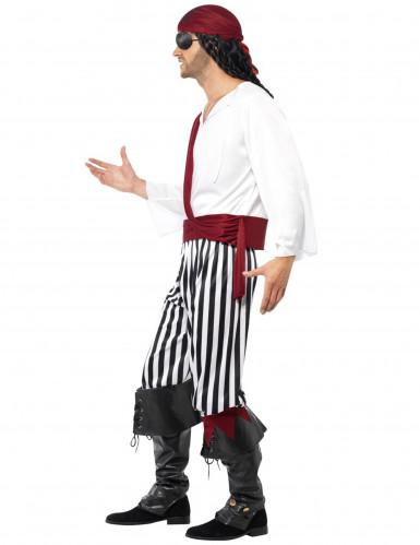 Enögda Villy - Randig piratdräkt för vuxna-1