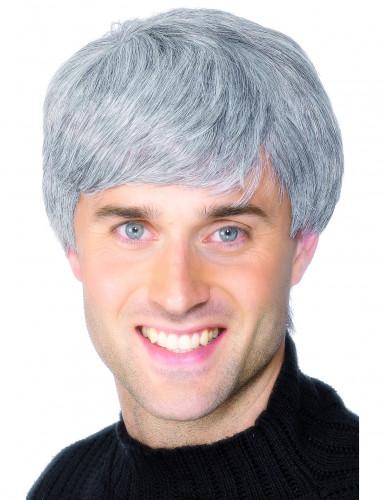 Modern grå peruk