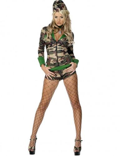 Sexig militär - utklädnad kvinna
