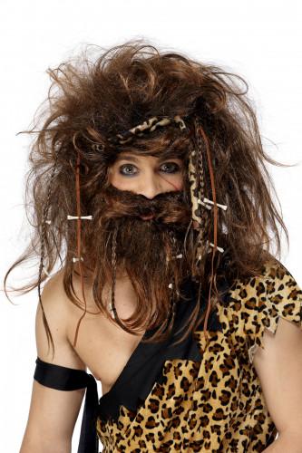 Grottmänniska peruk och skägg