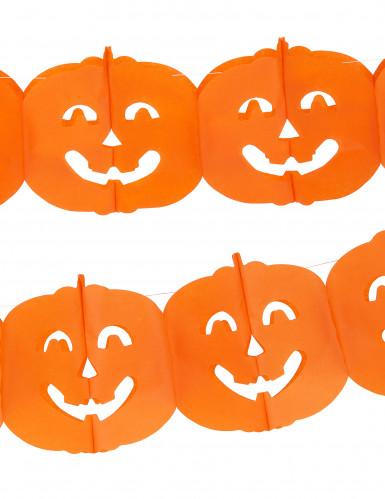 Halloween girlang med pumpor-1