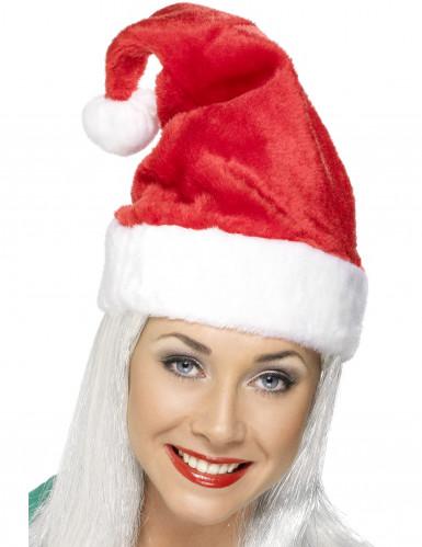 Tomteluva med vit kant - Huvudbonader till jul