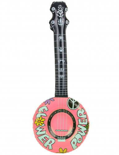 Uppblåsbar banjo hippie-2