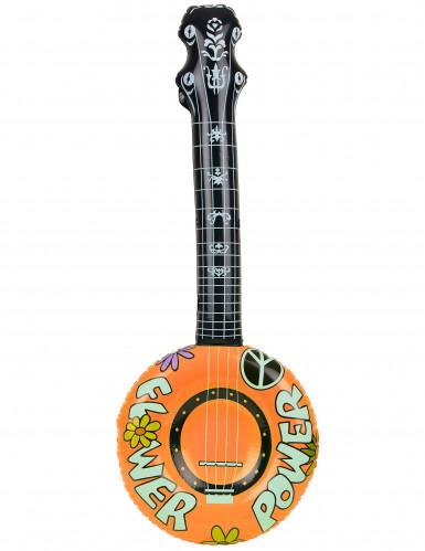 Uppblåsbar banjo hippie-1