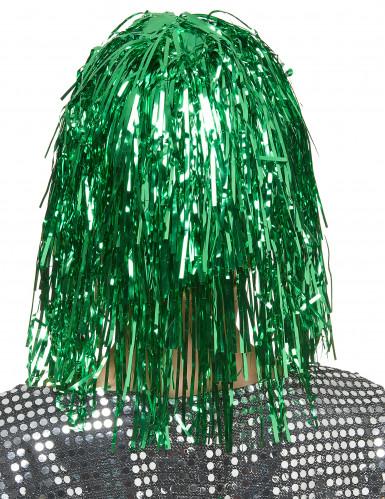 Peruk med grönfärgat glitter-1