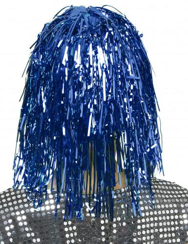 Peruk med blåfärgat glitter-1