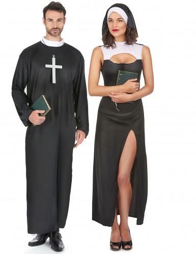 Präst och het nunna - Pardräkt Vuxna