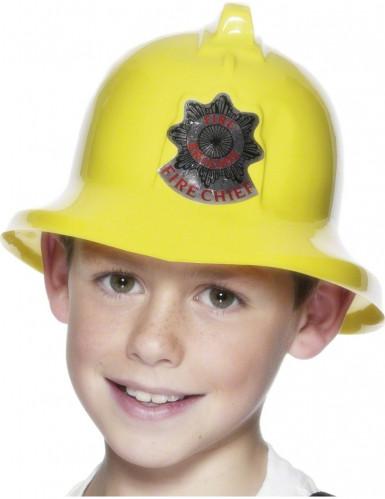 Gul brandmanshjälm för barn