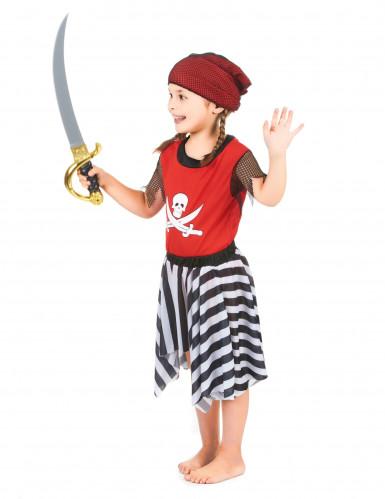 Pirat med randig kjol - Maskeradkläder för barn-1