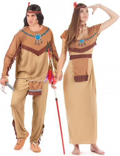 Indianer Pardräkt Vuxna