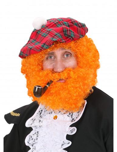 Skotsk orange herrperuk med skägg
