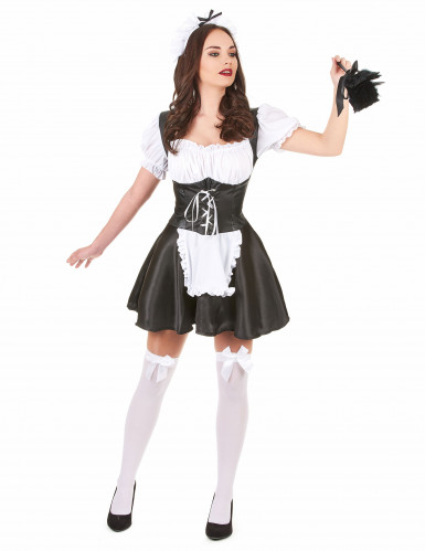 French maid maskeraddräkt för vuxna