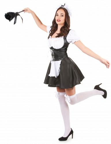 French maid maskeraddräkt för vuxna-1