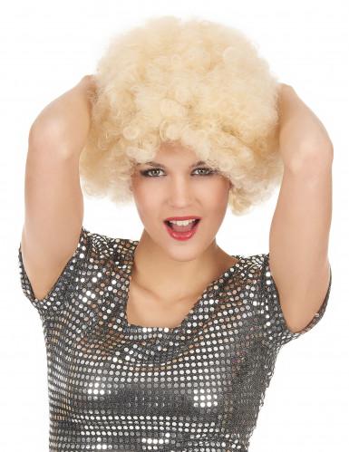 Blond afro peruk vuxen