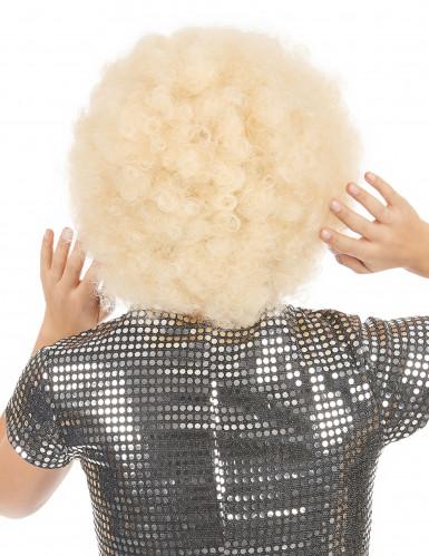 Blond afro peruk vuxen-1