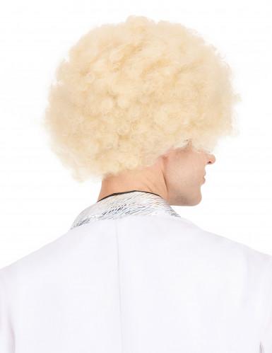 Blond afro peruk vuxen-2