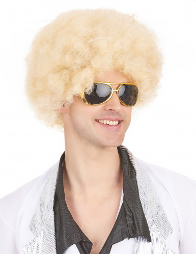 Blond afro peruk vuxen-3