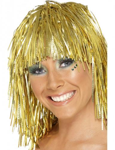 Guldskimrig peruk vuxen