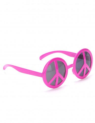 Rosa hippie glasögon vuxen