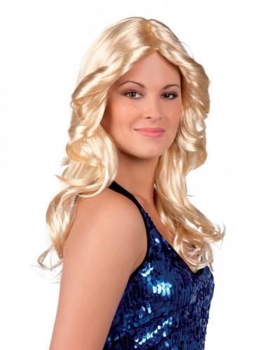 Blond disco peruk vuxen