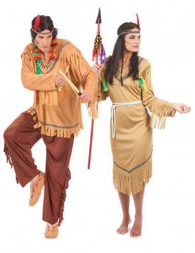 Herr & Fru Indian - Pardräkt för vuxna
