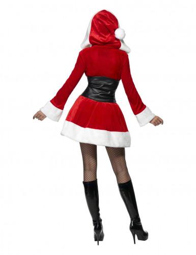 Tomteklänning med korsett - Juldräkt för vuxna-1
