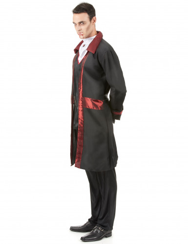 Elegant vampyrdräkt med röda detaljer - Halloweenkostym-1