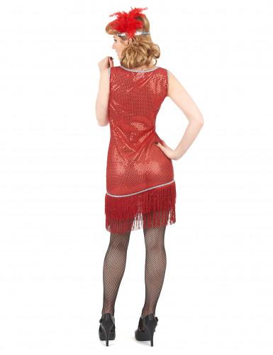 Dansa Charleston - Röd maskeradklänning för vuxna-2