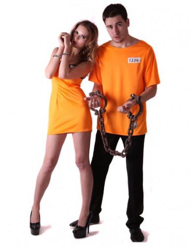 Fångdräkt för par - Vuxenmodell